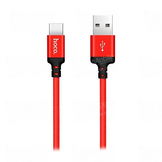 Кабель HOCO X14 Times Speed (USB - Type-C) красно-черный