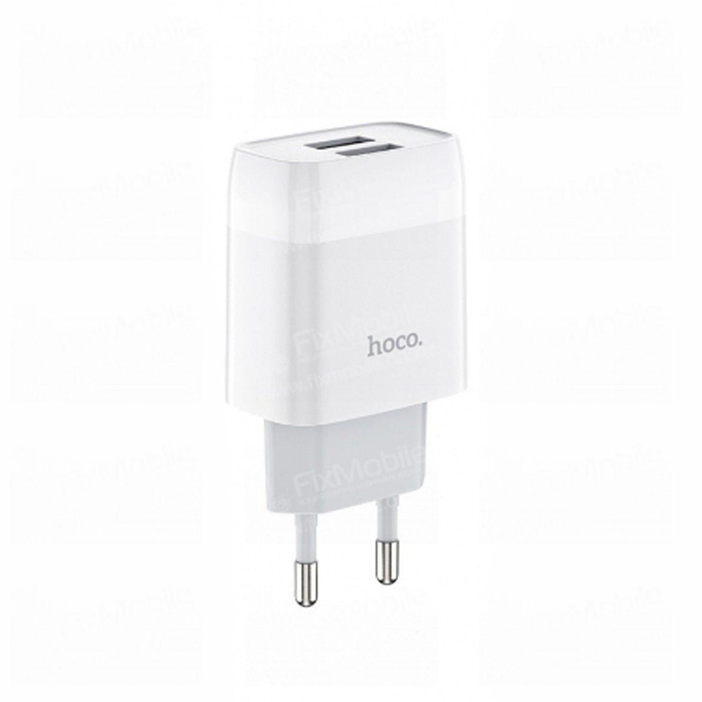 Сетевое зарядное устройство HOCO C73A Glorious 2USB (белое)