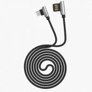 Кабель HOCO U42 Exquisite Steel (USB - micro-USB) черный